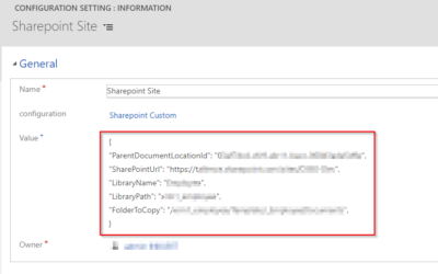 Automatically Create Custom Sharepoint Folder Structure for an Entity in Dynamics 365 CE